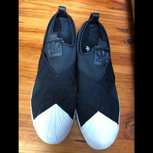 Adidas stripes slip-on sneaker